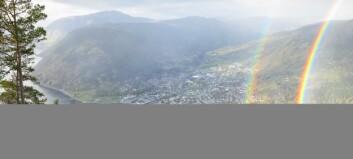 Sjekk det spektakulære synet amerikanaren fanga på film i Sogndal