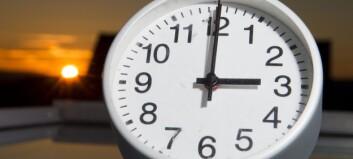 Har du hugsa å stilla klokka?