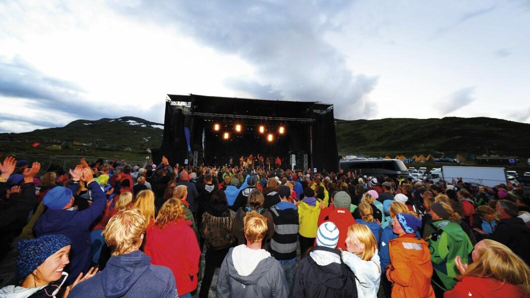 STOR RIFT: Høgt til fjells ligg han, men Vinjerock er populær blant festivalpublikummet.