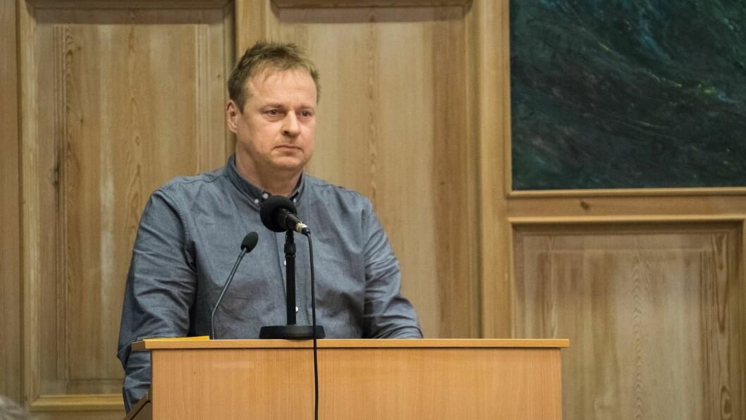 KRITISK: Arne Glenn Flåten (H) er kritisk til at kommunen har lyst ut treningshall, utan at politikarane har vedteke investeringa.