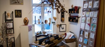 Viser fram lokal kunst under juleutstilling