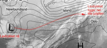 Meteorologane varslar om grisevêr julehelga: – Kan bli skikkeleg vinterstorm