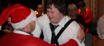 Simon fekk møta nissen då tysdagsklubben hadde julebord