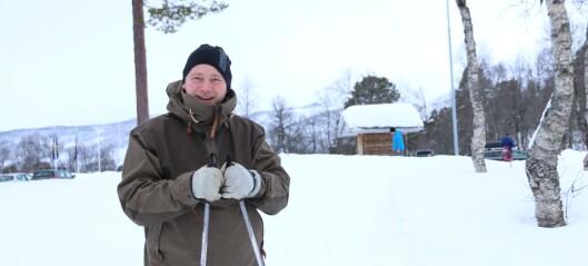 Vêret på Årdalstangen minna han om det danske klimaet fyrste nyttårsdag, med våt austavind