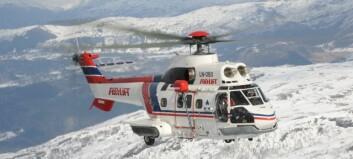 Vegen kan opna fredag. Onsdag kjem einaste helikopteret i Nord-Europa som kan gjera jobben