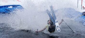 Bildegalleri: Spenstige hopp og heftige fall under Smeltevatn Open