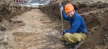 Grev fram førhistoriske spor i eplehagen