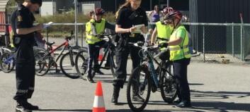 Tangen skule arrangerte sykkeldag i solskinet: – Det var nok litt nervar