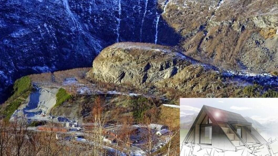 MOAKAMBEN: Dagsturhytta i Årdal skal setjast opp på Moakamben, ein kjend turplass for mange Årdøle.