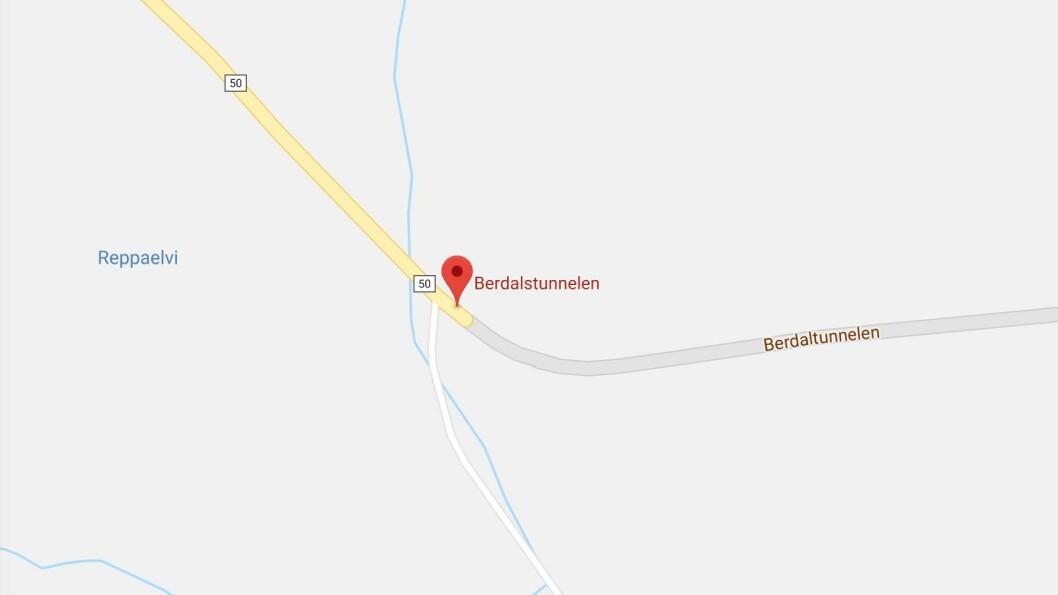 ULUKKE: Det er i Berdalstunnelen i Aurland ulukka har skjedd.