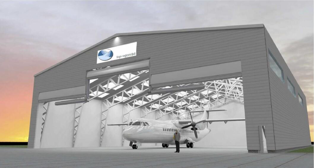 ETTERLENGTA: Prislappen på hangaren er rundt ti millionar kroner. Betra regularitet og kapasitet på morgonflya er fordelane.