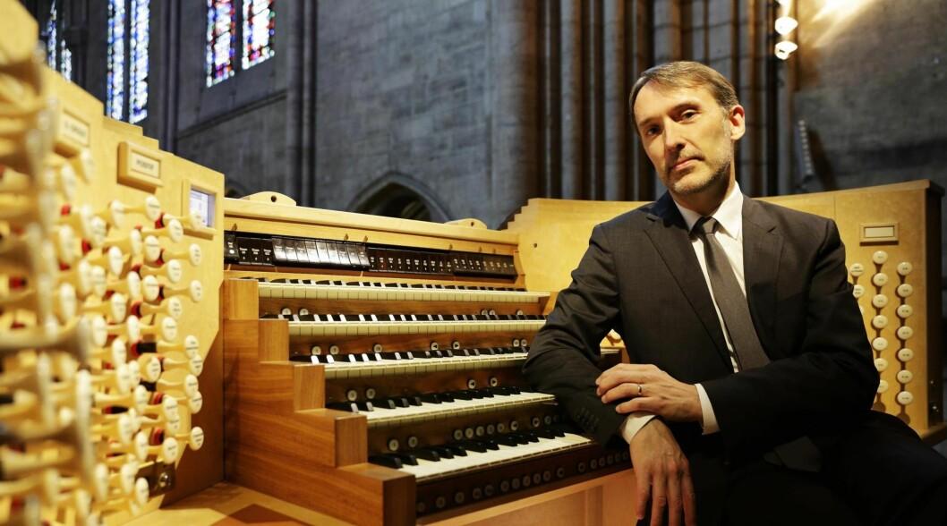 STOR STJERNE: Franskmannen Oliver Latry kjem til Sogndal for å innvia det nye orgelet i Stedje kyrkje.