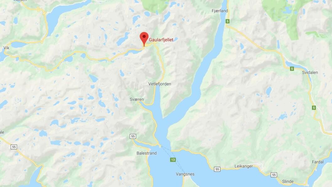 ULUKKE: Ulukka har skjedd ved landemerket Utsikten langs fylkesveg 13 på Gaularfjellet.