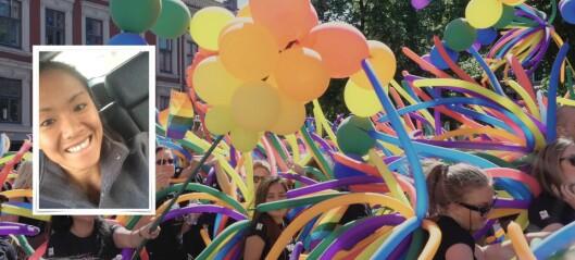 Sogningen Gry var paradesjef for Pride Paraden i Oslo: – Det er viktig å bidra