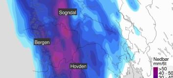 Meteorologisk institutt åtvarar mot styrtregn: – Alvorleg situasjon