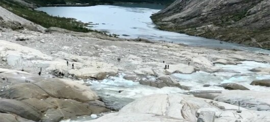 Breførar filma like etter dødsulukka på Nigardsbreen