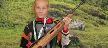 Ingvild (13) skaut seg til finale på årets landsskyttarstemne