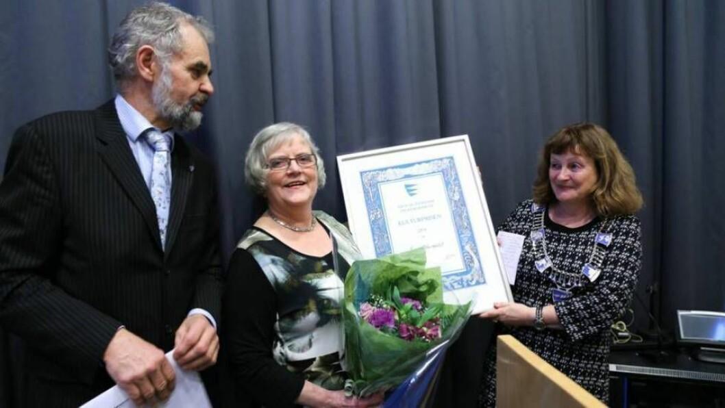 GJEV PRIS: I 2014 vart prisen delt ut til Kari Støfringsdal for hennar arbeid med å ta vare på og føre viare lokale mattradisjonar.