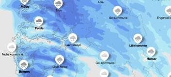 Venta store mengder regn torsdag