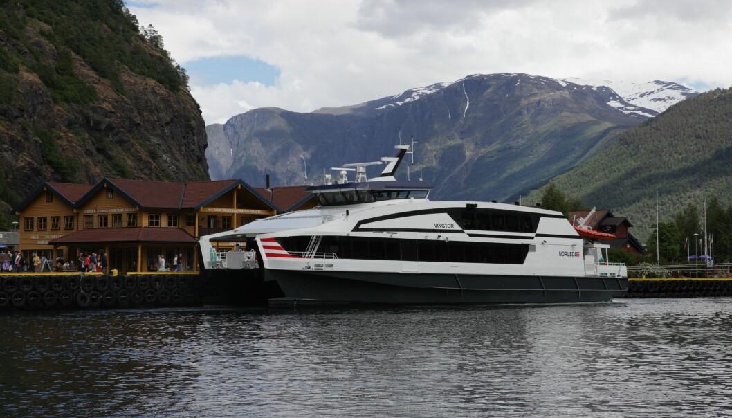 FLÅM-BERGEN: Personen hadde teke ein hurtigbåt frå Norled. Biletet er ein illustrasjon.