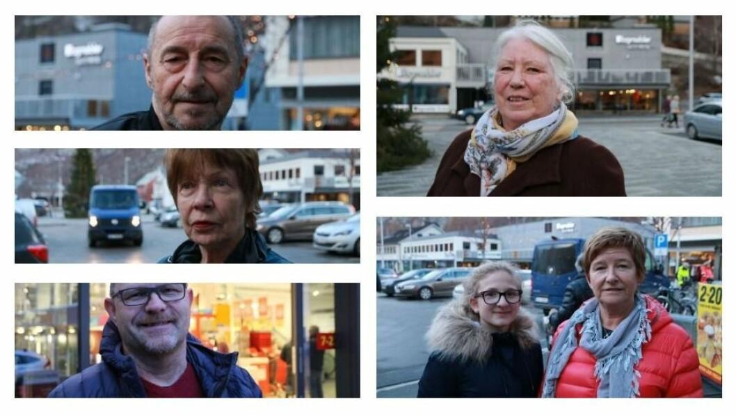 OPPE FRÅ VENSTRE: Arve Norheim, Svanhild Jellestad, Rune Edvardsen, Inger Luggernes og Elin Framstad Helle saman med bornebornet.