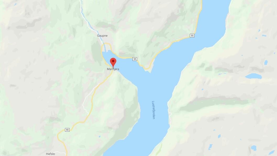 ULUKKA: Ulukka skjedde i Marifjøra mellom Hafslo og Gaupne.