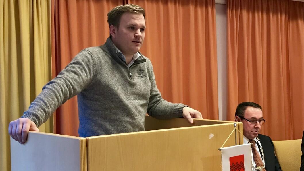 MEIR OPENHEIT: Aleksander Øren Heen fekk med seg fleirtalet på å greia ut organiseringa av Årdal Utvikling. Målet er meir openheit om pengebruken i organisasjonen.