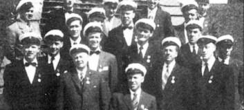 Farnes Mannskor på stemne i Høyanger i 1948