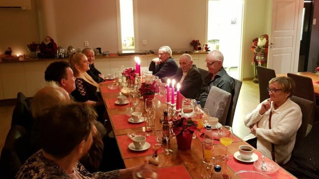 JULAFTAN: Fleire var samla for ein koseleg julefering i Årdal.