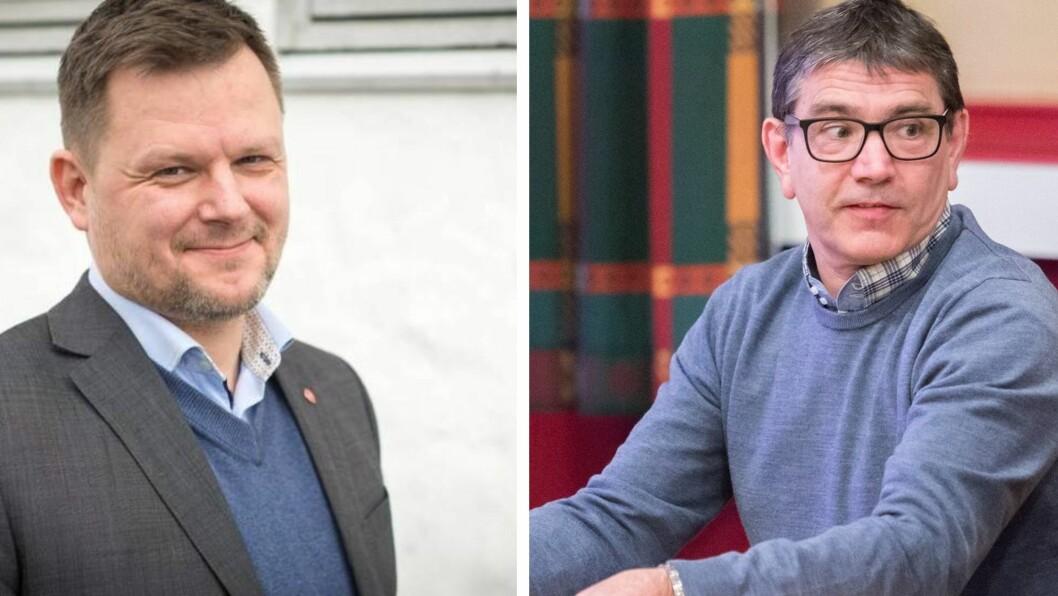 KNIVAR OM FØRSTEPLASSEN: Torsdag har Sogndal Ap møte for å avgjerda kven av desse to som får vera partiet sin førstekandidat for ordførarrolla. Tv. Jon Håkon Odd og Kjetil Kvåle.