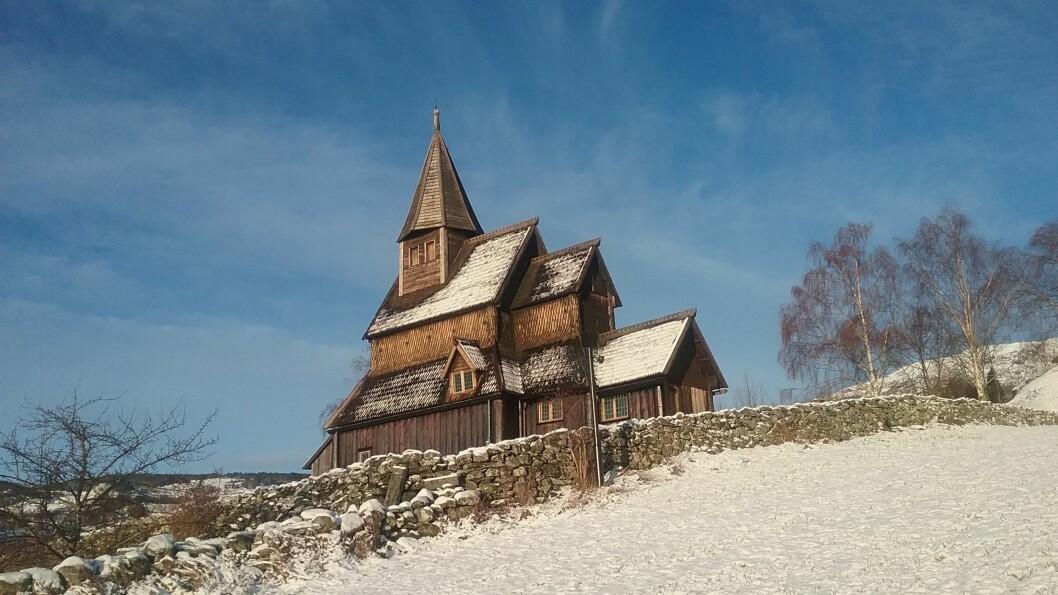 VERDSARV: Urnes stavkyrkje frå 1130 er eldst i landet, og på UNESCO si verdsarvliste. Målet er å få opp eit verdsarvsenter her.