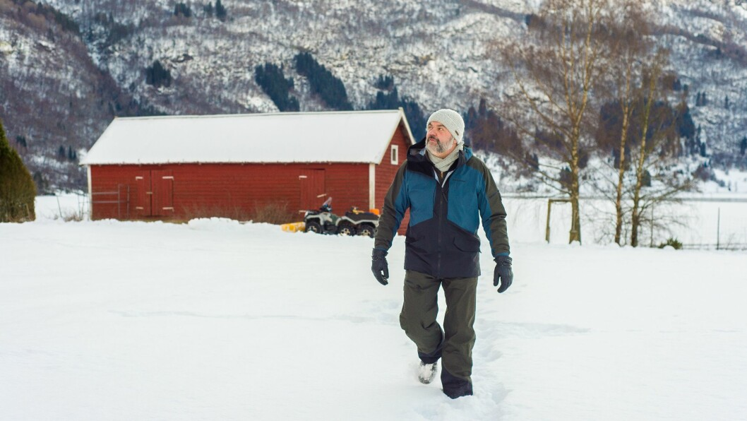 STORE PLANAR: Den usikre framtida til laksen er èin av grunnane til at Knut Munthe Olsen no ser seg om etter andre inntektsjelder på garden.
