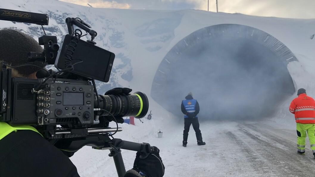 SKREMMANDE SCENARIO: I førre veke var Nordic Film Productions på Vikafjellet for å førebu filminga av spaningsthrillaren «Tunnelen».