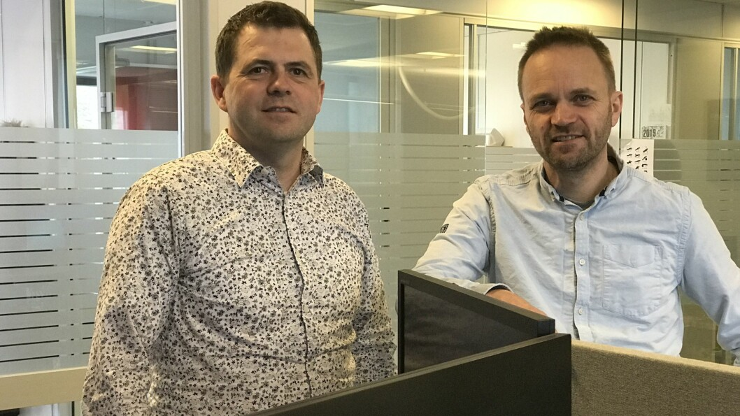 AUKA ANSVAR: Jørgen Tistel er direktør for den nye IKT-avdelinga under fellesadministrasjonen til Fylkesmennene. Frank Hofslundsengen vert sjef for den nye seksjonen for digitalisering.