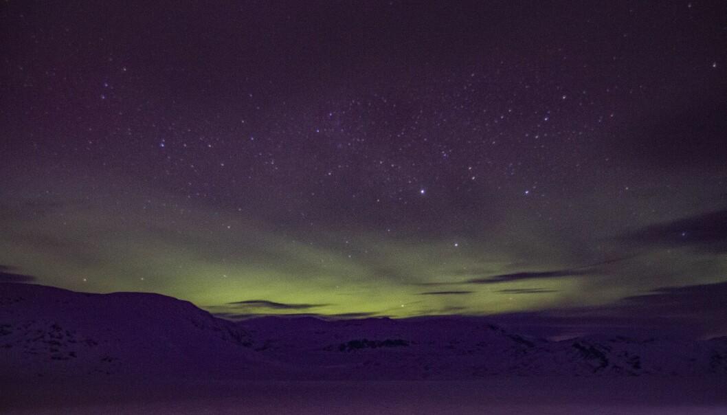 NORDLYS: Dette synet møtte Jhonny Svåi på Tyin ein sein vinterkveld.