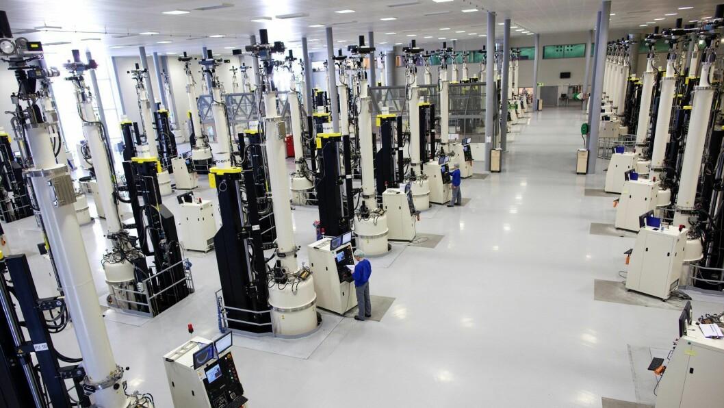 OPPE ATT: Produksjonen til Norsun er i gang att etter straumbrotet.