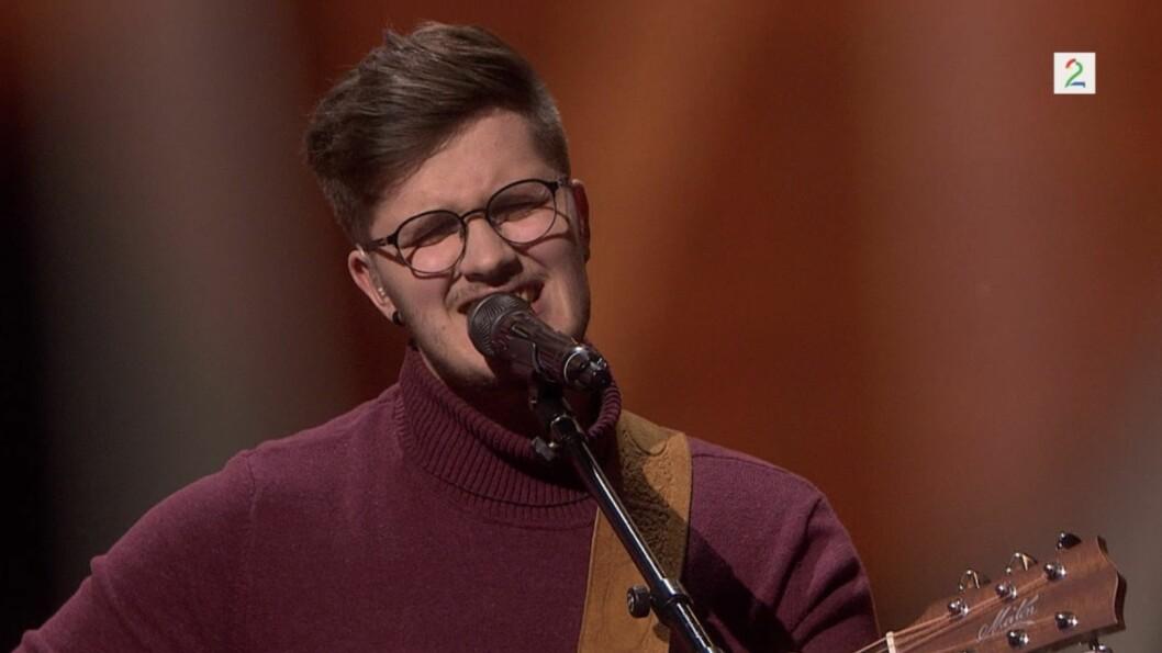 GJEKK VIDARE: Lustringen Sindre Steig gjekk vidare i The Voice.
