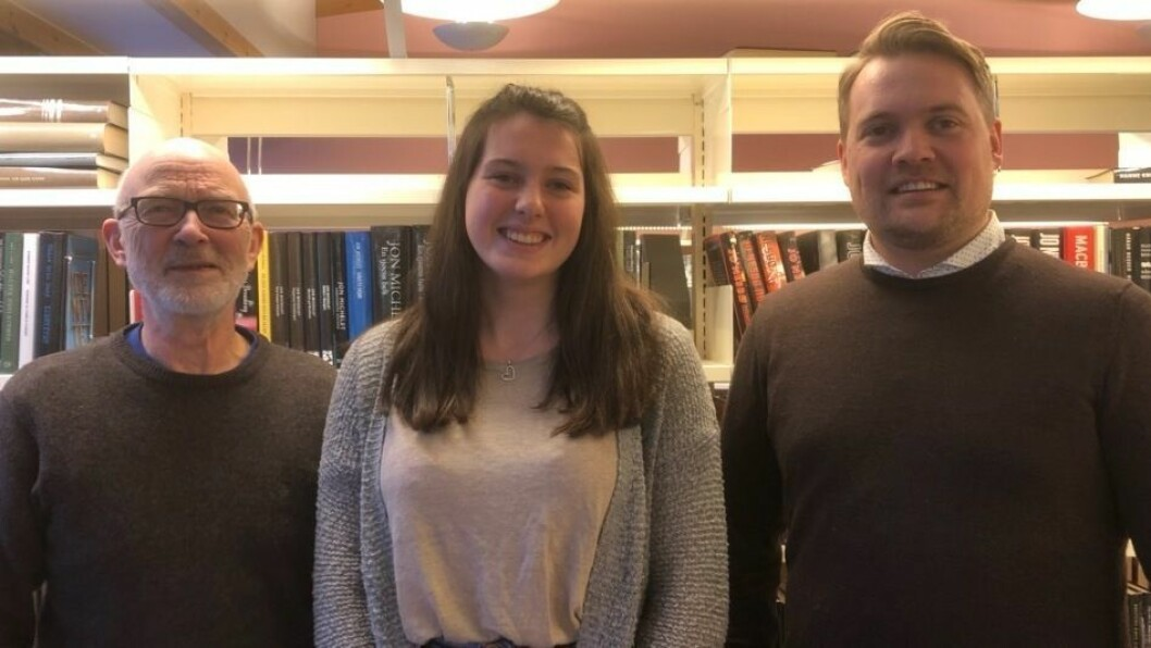 TOPP TRE: Frå venstre: Jan Olav Fretland, Mathilde Grøttebø og Sæmund Stokstad er topp tre på vallista for Lærdal SV.