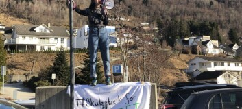Ungdomen streika for klima: – Vil ikkje veksa opp i frykt for at verda kokar ihjel