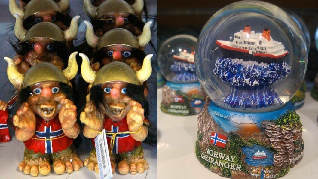 IMPORT: - Hvorfor finner vi oss i at det selges importerte varer som er påstemplet «Hilsen fra Narvik», «Greatings fra Kolvereid» eller «Troll from the Fjords».  Selv om de ikke kommer herfra? spør reiselivsjournalist Odd Roar Lange.