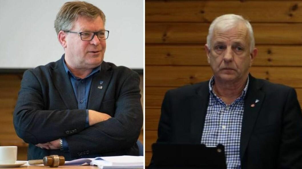 REAGERER: Verken ordførar Noralv Distad (H) eller varaordførar Leiv Jarle Bergheim i Aurland tykkjer om kompromisset Lærdal og Årdal landa på i siste time.
