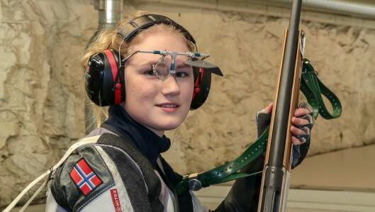 Maia Vetti Grøndal (19) satsar målmedviten på skyting.
