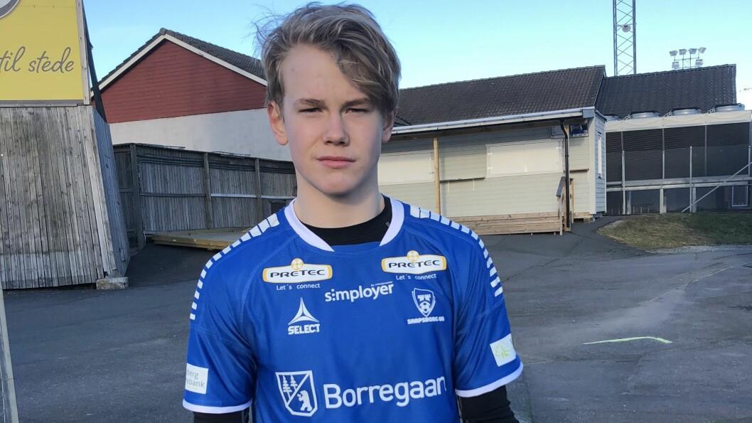NYTT EVENTYR: Leander Øy (15) skal til neste haust spela for G19-laget til Sarpsborg.