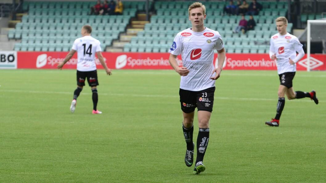 GOD: Sivert Mannsverk skåra og assisterte då Sogndal tok eitt poeng borte mot Skeid onsdag.