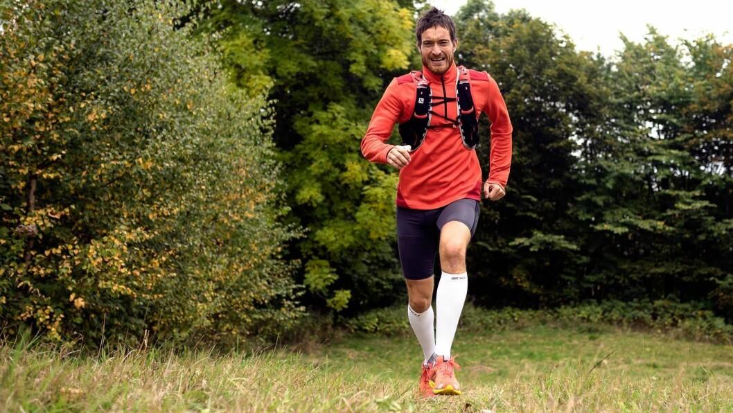 I STEGET: Rune Solheim frå Lærdal ligg i hardtrening for å bu seg på ein distanse tilsvarande nesten åtte maraton. Han reknar med å bruka to-tre dagar på turen.