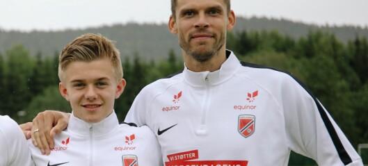 Lidvin (14) vil bli Liverpool-proff, denne veka har han spelt med dei beste i landet
