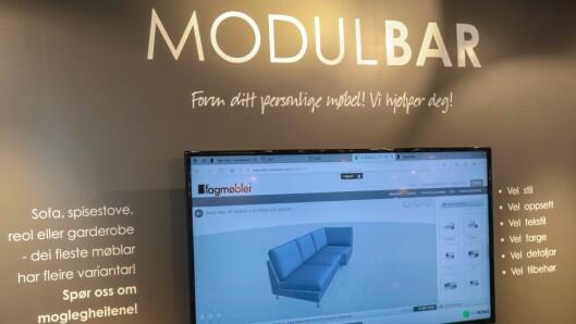Unikt system: Hjå Fagmøbler kan du bygge din sofa i 3D