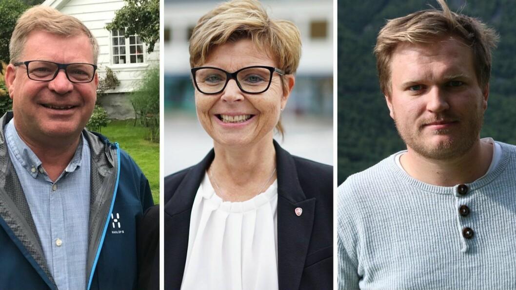 VESTLAND: Høgre, Arbeidarpartiet og Senterpartiet ligg på topp tre i meiningsmålinga for Vestland fylkesting.