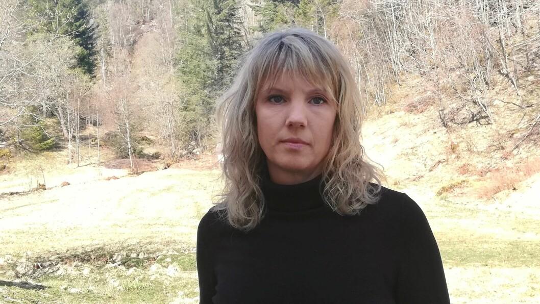 OMSORG: Høyanger SV og førstekandidat Tanja Strandheim meiner blant anna at alle omsorgstenester bør drivast av det offentlege.