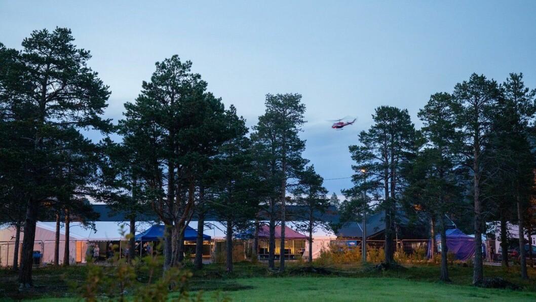 Helikopteret som krasja i Alta kjem frå selskapet Helitrans som er eigd av Oddvar Røysi frå Luster.  FOTO: KRISTINA KALININA / NRK